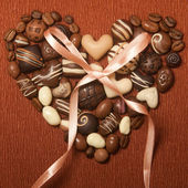 Sweets in a shape of heart — Stock Photo