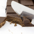 Chocolate in pieces — Stock Photo