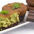 Muffins with mint and chocolate - Photo
