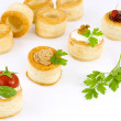 Tartlets filled, vol-au vent — Stock Photo #11660837