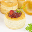 Tartlet filled with creamy chili — Stock Photo #11660870