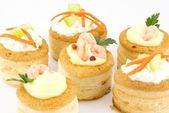 Vol au vent stuffed — Stock Photo