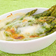 Asparagus gratin - Stock Photo