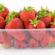 Stock Photo: Strawberries in tubs