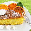 Slice of cake with orange — Stock Photo #11709097