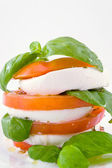 Buffalo mozzarella and tomatoes — Stock Photo