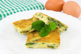 Frittata with asparagus — Stock Photo