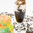 Chocolate liqueur with whipped cream - Stock Photo