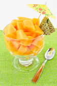 Salad of melon — Stock Photo