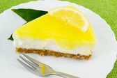Lemon cheesecake — Stock Photo