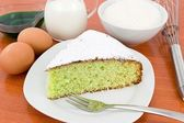 Cake coconut and mint — Stock Photo