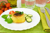 Zucchini with ricotta cheese soufflé — Stock Photo