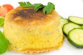 Zucchini soufflè — Stock Photo