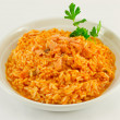 Rice with salmon — Stock Photo