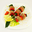 Skewered meatballs — Stock Photo