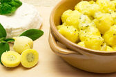 Gnocchi stuffed with ricotta and spinach — Stock Photo