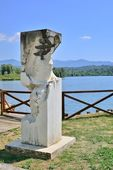 Monument Lake Fibreno, Frosinone — Stock Photo