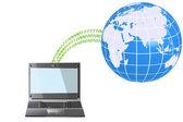 World-Wide Communication — Stock Vector