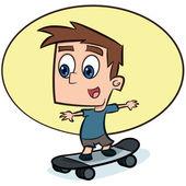 Boy on skateboard - vector illustration — Stock Vector