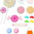 A variety of candy — Stock Vector