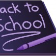 Back to school on a chalkboard - Stock Vector