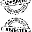 Rubber Stamps - approved and rejected — Stock Vector