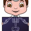Stock Vector: Doctor and X-ray