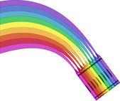 Crayon Rainbow — Stock Vector