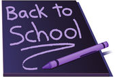 Back to school on a chalkboard — Stock Vector