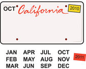 California License Plate 2010 — Stock Vector