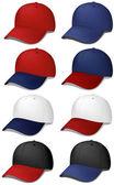 Set of Baseball Caps — Stock Vector