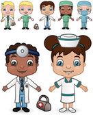 Doctors and Nurses set 2 — Stock Vector