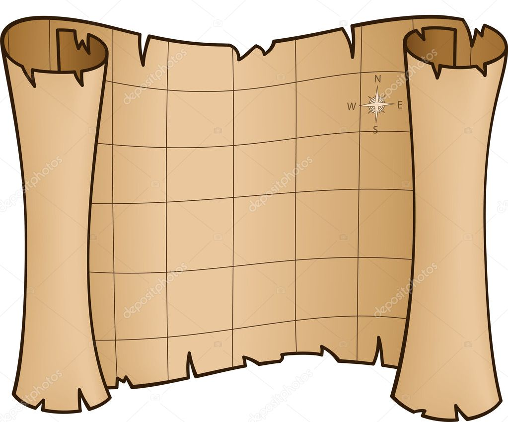 Old Treasure Map - vector illustration — Stock Vector #11660503