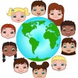 Stockvector : Kids around the world