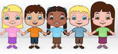 A diverse group of kids — Stock Vector