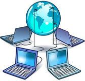 Worldwide Computer Technology — Stock Vector