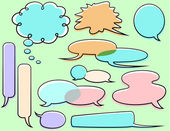 Word Balloon Set — Stock Vector