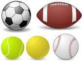 Sports Balls - vector illustration — Stock Vector