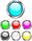 Glossy Buttons - vector illustration set — Stock Vector