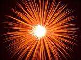 Firework Golden Burst — Stock Photo