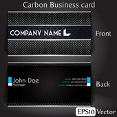 Carbon Business card — Stock Vector