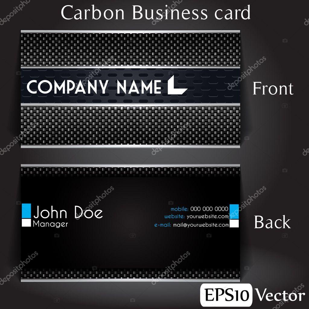 Carbon Business card — Stock Vector © evilben13