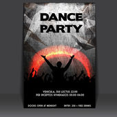 Flyer Design with Dancing Young — Stock Vector