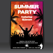 Flyer de fiesta de verano Playa — Vector de stock