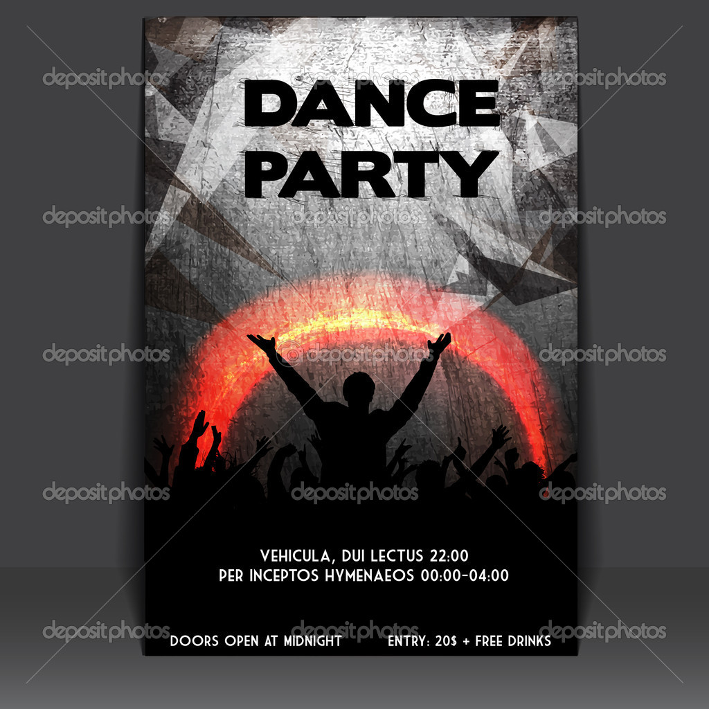 Flyer Design with Dancing Young — Stock Vector #11657553