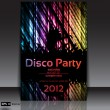 Dancing Disco Party Vector Background - Stock Vector