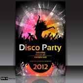 Disco party tło. ilustracja wektorowa — Wektor stockowy