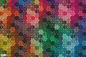 Hexagon kaleidoscope optical illusion — Stock Vector