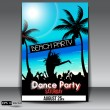 Stock Vector: Summer Beach Party Flyer with Dancing Young