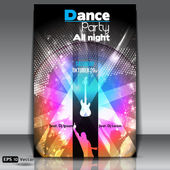 Disco Party Background. Vector Illustration — Vector de stock